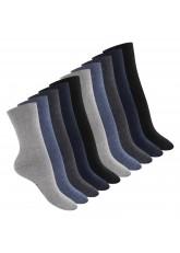Footstar Damen Baumwollsocken (10 Paar), handgekettelte flache Spitze - Everyday! - Jeans