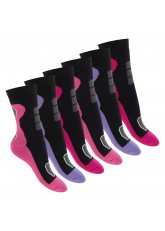 Footstar Damen Wintersocken (6 Paar), Warme Vollfrottee Socken mit Thermo Effekt - Mix