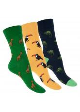 Footstar Damen & Herren Bunte Motiv Socken (3 Paar), Lustige Baumwoll Socken - Safari