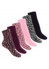 Footstar - 6 Paar Soft Socks warme Kuschelsocken