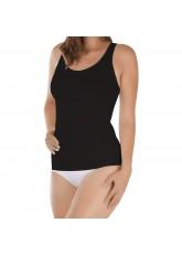 Damen Seamless Form-Hemd Schwarz