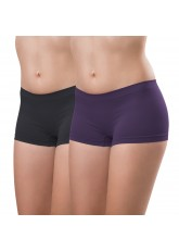 2er Pack Damen-Pant-seamless-lila und anthra