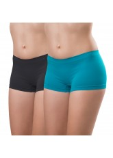 2er Pack Damen-Pant-seamless-türkis und anthra