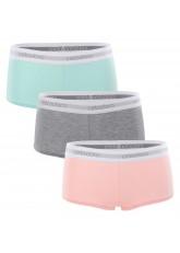 Celodoro Lady Underwear - 3er Pack Damen Panty - Pastell Mix - Rose Türkis & Grau