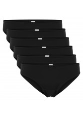 Celodoro Damen Bikini Slip (6er Pack), Klassische Unterhose aus Quick Dry-Fasern - Schwarz