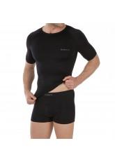 Celodoro Herren Sport Funktions Unterwäsche Set Seamless, Kurzarm Shirt & Boxer Pants