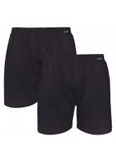Gomati Herren Jersey Boxershorts (2 Stück) Stretch Unterhose aus Baumwolle - Schwarz
