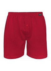 Herren Single Jersey Boxershorts Deep Red