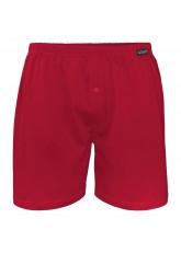 Gomati Herren Jersey Boxershorts (1 Stück) Stretch Unterhose aus Baumwolle - Deepred