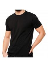 2er Pack Basic Herren T-Shirt aus Baumwolle mit Rundhals - schwarz