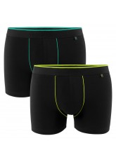 2er Pack Gomati Herren Retro Pants - schwarz-gelb/ schwarz-grün