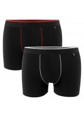 2er Pack Gomati Herren Retro Pants - schwarz-rot/ schwarz-weiß