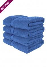 4 weiche Frottee Handtücher 50x90 von TERRYLAND Princess Blue