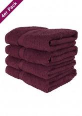 4 weiche Frottee Handtücher 50x90 von TERRYLAND Rumba Red