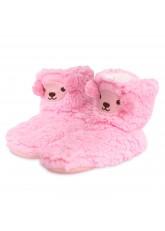 1 Paar Kinder Bärchen Hausschuhe - rosa