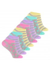 Footstar - 8 Paar Kinder Sneaker-Socken - Pastelltöne