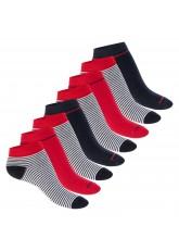 Footstar Damen Motiv Sneaker Socken (8 Paar), Kurze süße Söckchen mit Mustern - Mehrfarb-Mix