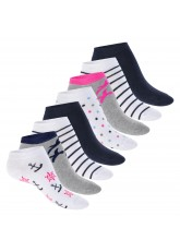 Footstar Damen Motiv Sneaker Socken (8 Paar), Kurze süße Söckchen mit Mustern - Maritim
