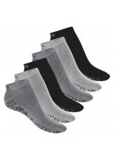 6 Paar Damen Pilates Sneaker Classic Grey