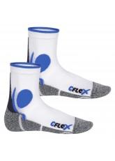 CFLEX Damen und Herren Running Funktions-Socken (2 Paar) Laufsocken - Weiss-Blau