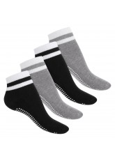 Celodoro Damen und Herren Yoga & Wellness Socken (4 Paar), ABS Söckchen mit Frottee-Sohle - Variante 3