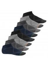 Footstar - 8 Paar Herren Sneaker Socken - farbige Spitze - Classic Mix