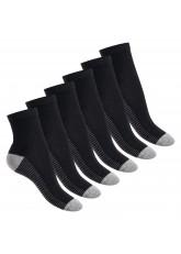 Footstar Damen & Herren Fitness Kurzschaft Socken (6 Paar) - Schwarz-Grau