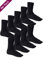 9 Paar Footstar Komfort Premium Socken - Frotteesohle schwarz