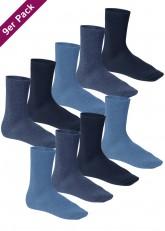 Herren Premiumsocken mit Komfortbund - jeans mix - 9 Paar