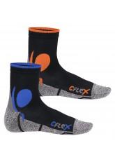 CFLEX Damen und Herren Running Funktions-Socken (2 Paar) Laufsocken - Schwarz-Mix