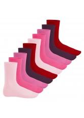 Footstar Herren & Damen Baumwollsocken (10 Paar), Klassische Socken aus Baumwolle - Everyday! - Berrytöne
