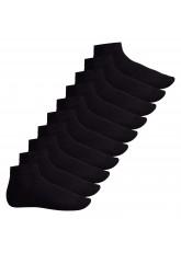 Footstar Herren & Damen Kurzschaft Socken (10 Paar) - Sneak it! - Schwarz