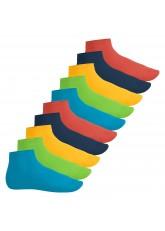 Footstar Herren & Damen Kurzschaft Socken (10 Paar) - Sneak it! - Trendfarben