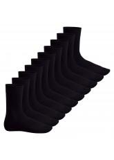 Footstar Herren & Damen Baumwollsocken (10 Paar), Klassische Socken aus Baumwolle - Everyday! - Schwarz