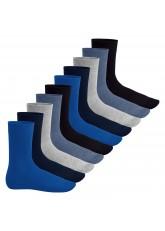 Footstar Herren & Damen Baumwollsocken (10 Paar), Klassische Socken aus Baumwolle - Everyday! - Jeanstöne