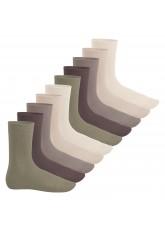 Footstar Herren & Damen Baumwollsocken (10 Paar), Klassische Socken aus Baumwolle - Everyday! - Naturtöne