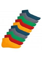 Footstar Herren & Damen Kurzschaft Socken (10 Paar) - Sneak it! - Funfarben