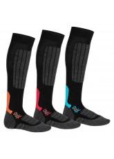 CFLEX Damen und Herren Ski- und Snowboard Socken (3 Paar), Kniestrümpfe High Perfomance - Mix