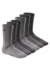 6 Paar CFLEX LIFESTYLE Unisex long Crew Socks Mouline