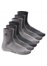 6 Paar CFLEX LIFESTYLE Unisex Short Crew Socks Sports Mouline