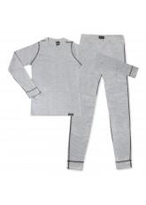 CFLEX POLARDRY Kinder Thermo Set - Hemd + Hose - für Mädchen und Jungen - Hellgrau/Anthra