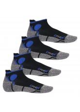 4 Paar Original CFLEX Lauf-Sneakersocken Schwarz/Blau