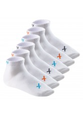 CFLEX Lifestyle Herren & Damen Kurzschaft Socken (6 Paar), Baumwoll Quarter Socken - White Mix
