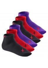 6 Paar CFLEX LIFESTYLE Kurzschaft Sneaker Socken Iridium Flame