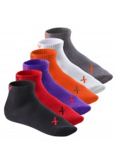 6 Paar CFLEX LIFESTYLE Kurzschaft Sneaker Socken Poppy Iridium Mix