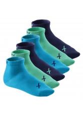 CFLEX Lifestyle Herren & Damen Kurzschaft Socken (6 Paar), Baumwoll Quarter Socken - Oceanic
