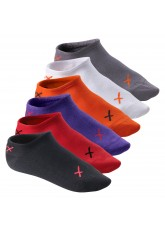 6 Paar CFLEX LIFESTYLE Invisible Sneaker Socks Poppy Iridium Mix