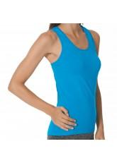 CFLEX Damen Sportswear Seamless Tank Top, Ärmelloses Strech-Oberteil - Blau