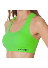 CFLEX Sportswear Damen Sport Bustier uni - Jasmine Green
