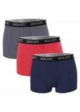 Gomati Herren Cotton Pants mit Logo (3er Pack), Retro Boxershorts aus Baumwoll-Stretch - Urban Camouflage